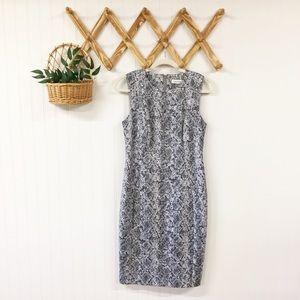 Calvin Klein | Snake Print Sleeveless Sheath Dress